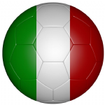 Italy Football Flag 25mm Button Badge